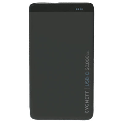 20,000 mAh ChargeUp Pro USB-C Power Bank - Black