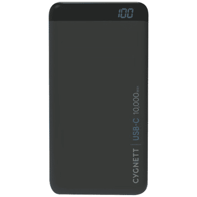10,000 mAh ChargeUp Pro USB-C Power Bank - Black