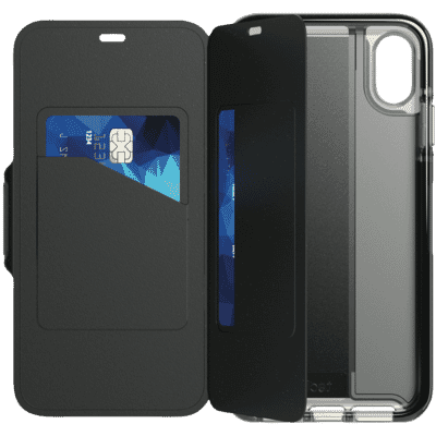 iPhone Xs Max Evo Wallet Case - Black